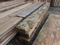 "Railway type sleepers 10"" x 4"" x 3 metre lengths £15 per timber"