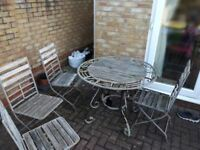 USED garden table & chairs for FREE