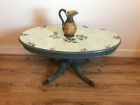 Vintage oval Coffee table with free local delivery
