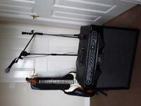 Guitar plus equipment