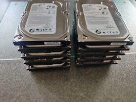 """Job lot of 10 x 500gb Internal 3.5"""" Hard drives"""