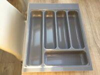 Grey cutlery tray