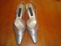 Jacques Vert Grey/Pink Slingback Shoes