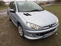 Peugeot 206 1.4 8v Zest 5dr - Moonstone SPARES OR REPAIR