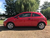 2009 Red Vauxhall Corsa 1.2 16V Active 3dr 63500 miles