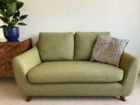 2 Seater Sofa: G Plan Vintage The Sixty Seven, Marl Green, Walnut legs. FREE DELIVERY