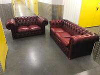 2x ox blood chesterfield sofa, Free delivery