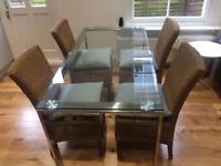 John Lewis Glass Dining Table & 4 Chairs