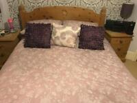 Double Bed & Bedside Tables
