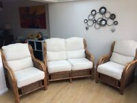 Conservatory suite sofa and 2 arm chairs