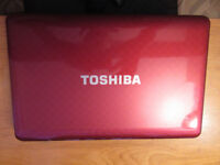 toshiba satelite L755D 1OU Laptop Used Good Clean Condition Smart Red