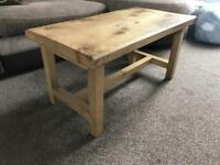 Handmade oak coffee table