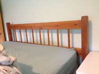 Solid pine double bed frame for sale, very good condition