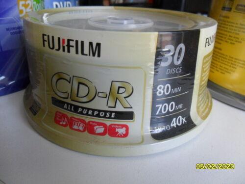 FujiFilm CD-R 30Discs - 80min / 700mb / 1x to 40x