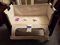 SnuzPod crib + 2 mattress protectors + 2 fitted sheets + UPGRADED natural mattress (value over £300)
