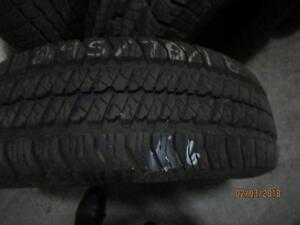 245/70R16 SINGLE ONLY USED MICHELIN ALL SEASON LTX M+S TIRE