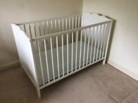 AS NEW. ONLY USED ONCE - COT AND CHANGING TABLE
