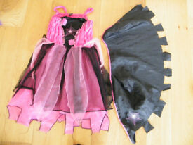 TU AGE 5-7 WITCHES DRESS AND CAPE