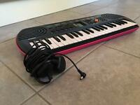 Casio SA-78 mini keyboard (pink), with Casio AC mains adaptor (bought separately)