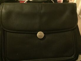 Leather laptop case (as brand new)