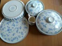 BHS Bristol Blue oven proof set of dinnerware
