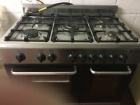 Beaumatic Range dual fuel 5 burners and double oven grill cooker