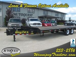 Big Tex 102' X 20'+5 Pintle Hitch Equipment Trailer-14 000K