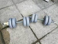 2 x 8kg dumbells (2 x 17.6lb)