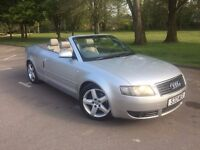 Audi A4 s-line 2.4 v6 2003 convertible cabriolet