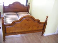 CAN DELIVER - BEAUTIFUL KING SIZE BED FRAME IN GOOD CONDITION