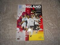 England v Germany. Mint condition football programme played at Wembley 10th November 2017