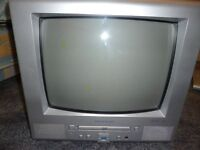 "14"" Television and DVD Player for sale"