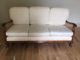 Cream bergere sofa