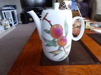 Royal Worcester Evesham Coffee Pot no damage