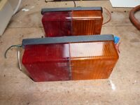 two trailer rear light fittings