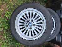 BMW 16 Alloy Wheels and Tyres, 225/50ZR16 Turbine 5x120 E39