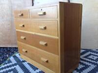 Vintage oak drawers / utility/ plan chest style