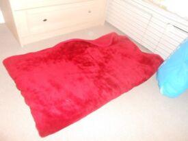 soft fleece blanket red