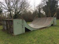 Skate Ramp/Mini Ramp/Half Pipe 16feet x 28feet - Professionally Made