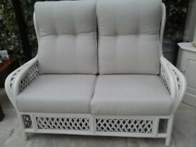 2 seater cane sofa and chair