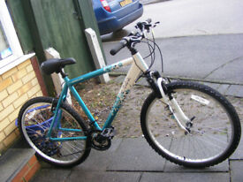 "LADIES 20"" ALUMINIUM FRAME 26"" WHEEL BIKE HARDLY USED GREAT CONDITION"