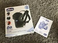 Chicco black and grey baby carrier