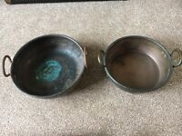 Copper jam pans