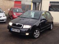 2004 SKODA FABIA VERY LOW MILES, GOOD FAMILY CAR WITH LOW TAX/INSURANCE AND RUNNING COST