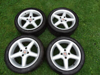 16s compomotive AT 5 spoke Alloys wheels Pcd 108 Ford / peugeot Rs Cosworth Gti P&P £40 !!