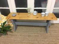 VINTAGE BENCH COFFEE TABLE FREE DELIVERY LDN 🇬🇧