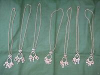 7 Brand New Gold Coloured Pendants with Chains: £3.00 EACH or 2 for £5.00