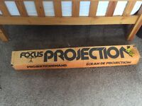 Projector screen (vintage)