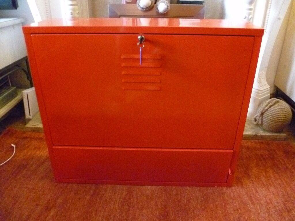 Ikea ps red metal bureau desk in longwell green bristol gumtree