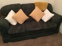 3 seater sofa and 2 matching armchairs, with fire certificate